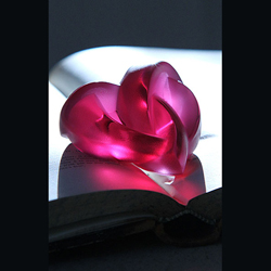 Heart Paperweight Fushia Lalique 1184720