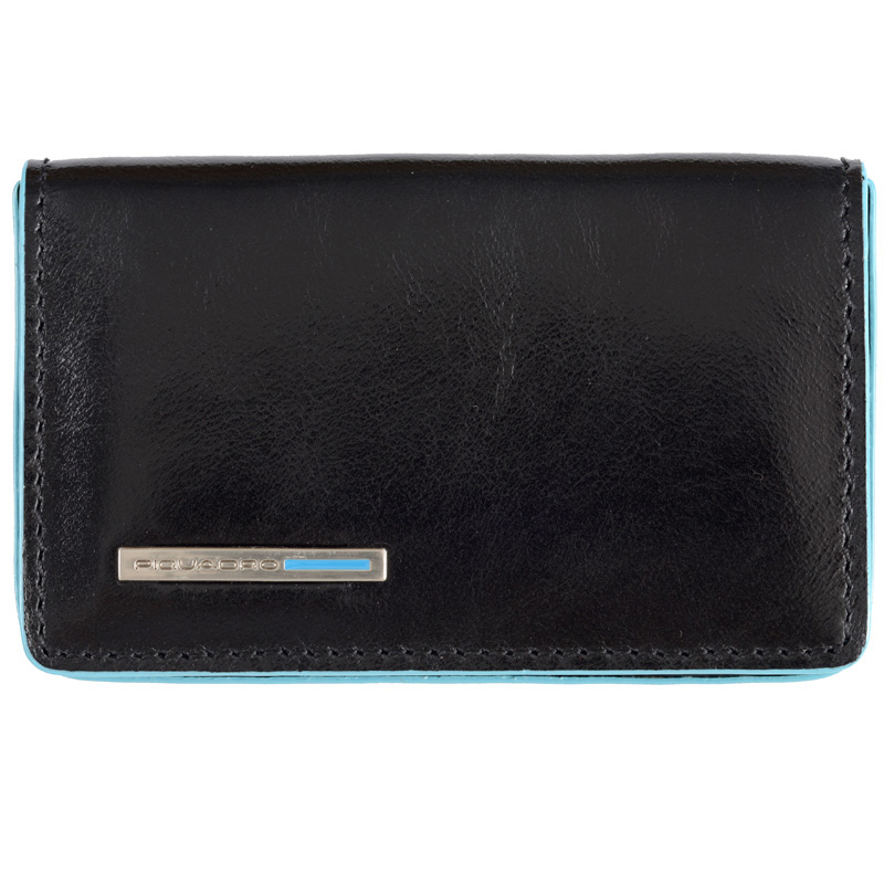 Визитница Piquadro Blue Square Black