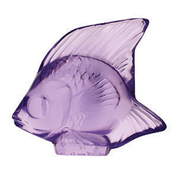 Fish Light Purple Lalique 3003000