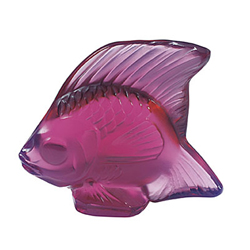Fish Fushia Lalique 3003400