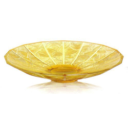 Ваза для фруктов China Mood Bowl Amber Large Lalique 10015900