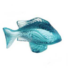 Damsel Fish Turquoise Lalique 3025500