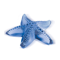 Oceania Starfish Paperweight Blue Lalique 1186000
