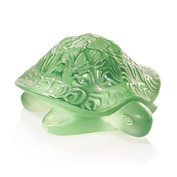 Sidonie Turtle Light Green Lalique 1214500