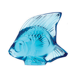 Fish Light Blue Lalique 3000200