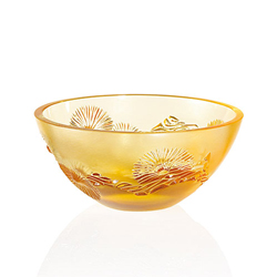 China Mood Bowl Amber Small Lalique 10016300