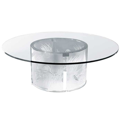 The 3 Lionnesses Table Without Top Lalique 1030400