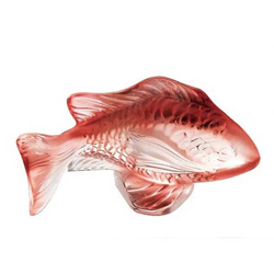 Damsel Fish Red Lalique 3025700