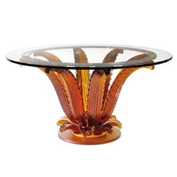 Cactus Table Amber Without Top Lalique 1030220
