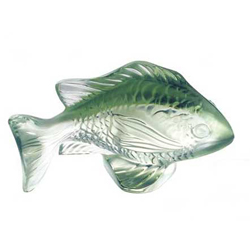 Damsel Fish Green Lalique 3025600
