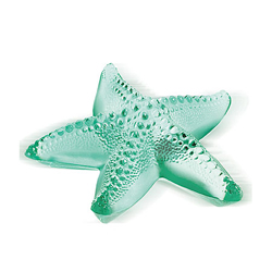 Oceania Starfish Paperweight Green Lalique 1186100